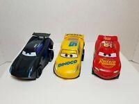 Pixar Cars Revvin' Action Lightning Mcqueen, Dinoco Cruz & Jackson Storm ⭐LOT 3⭐