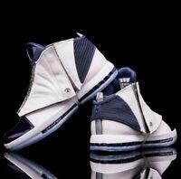 Nike Air Jordan XVI 16 White Midnight Navy 136059-141 size 12.5 OG 1 4 7 6 12 23