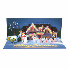 LED Lighted Holiday Lights Pop-Up Christmas Card - Merry Christmas with Snowman