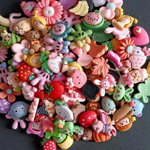 20pc Assorted Resin Animals Fruits Flowers Flatback Buttons Decorations Random