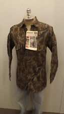 Vtg NEW Mossy Oak Original Tree Stand  Camo Shirt XXL USA Made Cotton Chamois