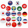 National Flag Iron On Patch Embroidery Round Badge Transfer Hat T-shirt Applique