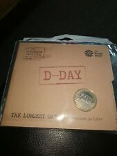 2019 D-DAY THE LONGEST DAY £2 POUND COIN BU ROYAL MINT SEALED PACK
