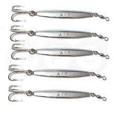 5pcs 2oz Fishing Diamond Jigs Silver Chrome Jigging Metal Lures treble hook @US