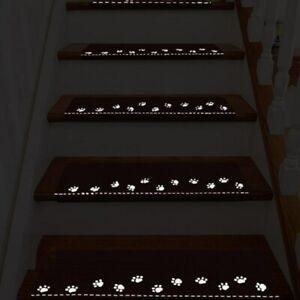 Indoor Luminous Stair Mat Cartoon Self-adhesive Floor Mat Stairs Luminous Mat