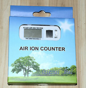 Upgraded KT401 mini air ion tester, show high concentrations of air +/- ion