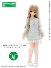 Azone Pureneemo Light Knit Dress Set Blue x Off-white Blythe Momoko Doll Pullip