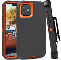 For iPhone 12 Pro Max Rugged Armor Case Hybrid Shockproof Bumper Cover+Belt Clip