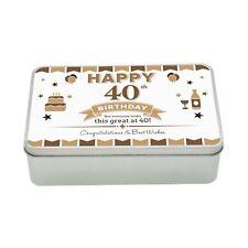 40th Birthday Keepsake Novelty Funny Tin Gift Box Present Idea For Men Him Male