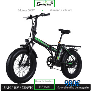 Vélo électrique 500W 15Ah Mountain Fat Tire e-bike shimano 7 vitesses 30-135 km