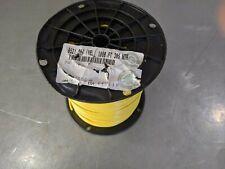 1000' BELDEN 8521 0041000 YELLOW WIRE 16 AWG MIL-76C-PVC 1000V 80C