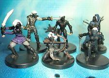 Dungeons & Dragons Miniatures Lot  Drow Blademaster Drow Archer Assassin !! s116