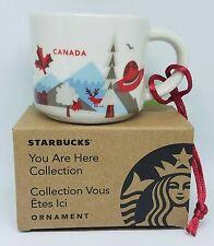"""Starbucks """"You are here"""" Canada Ornament Demi 2 oz. - Brand New!"""