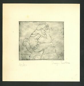 Diego Rivera Old etching- Hand signed in pencil