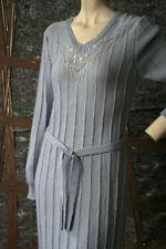 Strickkleid Kleid flieder pastell mit Blümchen True Vintage jersey dress lilac