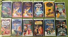 Walt Disney Black Diamond The Classics Masterpiece Collection VHS VCR Tapes Lot