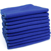 Pack of 10 Blue Microfiber Cleaning Car Detailing Soft Cloths Wash Towel Duster