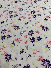 Neon Flower Polycotton Fabric Floral Print Hippy Craft Bunting 115cm Wide
