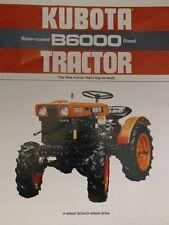 Kubota B6000 Diesel Compact 4WD Farm AG Tractor FULL COLOR Sales Brochure 8pg