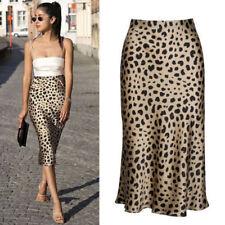 e9fe872b79 UK Women's Leopard Print Midi Par Naomi Skirt Dress Multiple Sizes  Realisation