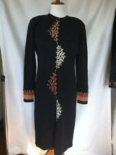 Vintage Antonella Preve Black Santana Knit Dress MEDIUM