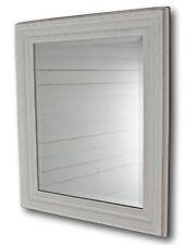 miroir blanc ancien 60x50cm bois Maison de campagne mural sale Bain à colonne