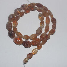 105CARTS 16'' 8x10to10x14MM NATURAL GEMSTONE CITRINE CARVED OVAL BEADS STRAND800
