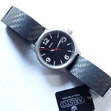 Aristo 5H83Q, Carbonuhr, Armbanduhr, Titan, Carbon Band, Quarzwerk Ronda 515