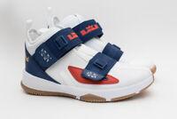 NEW Nike LeBron Kid's Soldier XIII LA (GS) White Gold CU4133-124 Boys Size 6Y