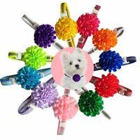 50pcs Cat Dog Bow Tie Pet Necktie Solid Bowtie Collar Puppy Accessories Grooming