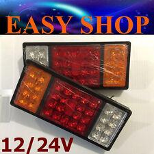 12V/24V PAIR 36 LED TAIL LIGHT LIGHTS CAMPER TRAILER TRUCK CARAVAN UTE BOAT CAR