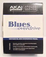 NIB AKAI Blues Overdrive Guitar Effect Pedal Analog Custom Shop Chrome Rare