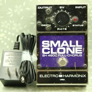 Electro-Harmonix EHX Small Clone With AC Adapter Chorus Guitar Effect Pedal