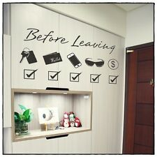 Wall Decor Art Vinyl Removable Living Room Hallway Decal Sticker Before Leaving