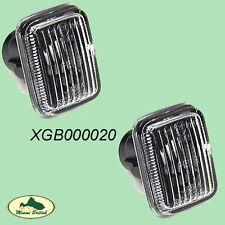 LAND ROVER SIDE MARKER CLEAR LIGHT LAMP PAIR SET RANGE P38 00-02 OEM XGB000020