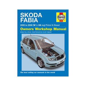 Manuale Haynes SKODA FABIA Benzina Diesel 2000-2006 Nuovo 4376