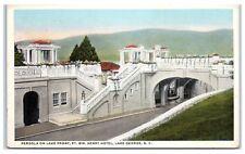 Early 1900s Pergola on Lake Front, Ft. Wm. Henry Hotel, Lake George, NY Postcard