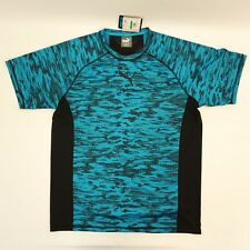 Puma Mens Shirt DryCELL PWRCool Printed Vent Mesh Back T Shirt Blue Black L $35