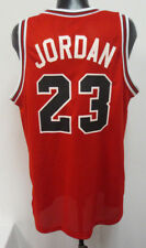MICHAEL JORDAN CHICAGO BULLS 2XL JERSEY VINTAGE RETRO VTG MENS PRINTED NBA RED
