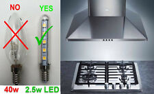2x Replacement LED Chimney Cooker Hood Exhaust Light Bulb Warm White Extractor