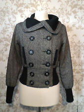 Size 8 Jane Norman brown & black cropped jacket #884R