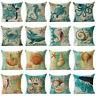 """18""""Cotton Linen Retro Case Sofa Cushion Cover Throw Home Decor Sea Animal Pillow"""