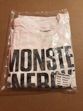NEW IN PACKAGE Monster Energy Promo Block Tee XL RARE Vault Promo White T-Shirt