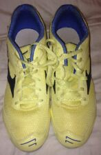 MIZUNO Womens Tempo LD Light Yellow Navy Track Running Shoes Spikes 11 M EUC