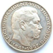 [R2318] Silbermedaille 1927 D, Hindenburg