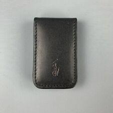 RALPH LAUREN Black Leather Money Clip