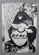 2007 D*FACE DFACE AIR TRANSPORT SIGNED SCREEN PRINT graffiti ARTIST
