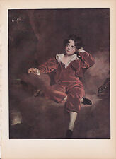 "1939 Vintage ""PORTRAIT OF MASTER LAMBTON"" by LAWRENCE Color Art Plate Lithograph"