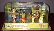 DISNEY Store FIGURE Playset WINNIE THE POOH Figurine 7 Piece PLAY SET NEW