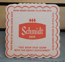 Lot of 100 Vintage SCHMIDT BEER Double Sided Coasters ST. PAUL MN Sealed (TH17)